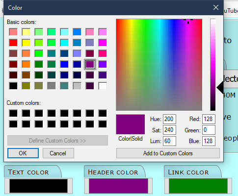 Sample color picker