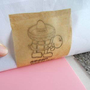 Transferring Image to Carving Block With Parchment Paper